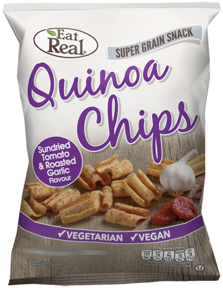 QUINOA CHIPS SUNDRIED TOMATO & ROASTED GARLIC FLAVOUR 80 GM