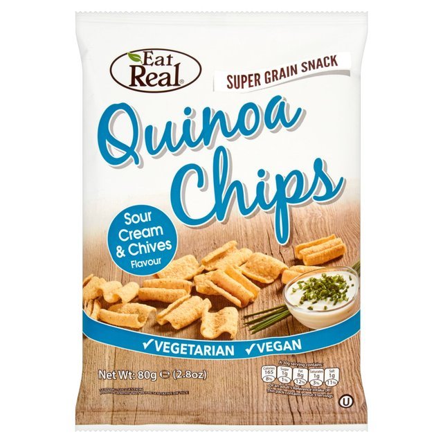 QUINOA CHIPS SOUR CREAM & CHIEVES FLAVOUR 80 GM