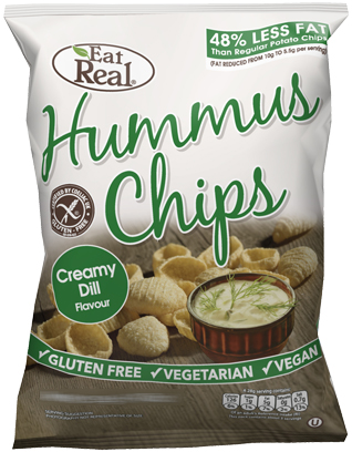 HUMMUS CHIPS CREAMY DILL FLAVOUR 135 GM
