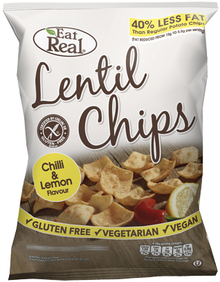 LENTIL CHIPS CHILLI & LEMON FLAVOUR 113 GM