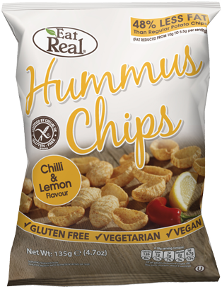 HUMMUS CHIPS CHILLI & LEMON FLAVOUR 135 GM