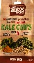 RAWLICIOUS KALE CHIPS INDIAN SPICE 40 G