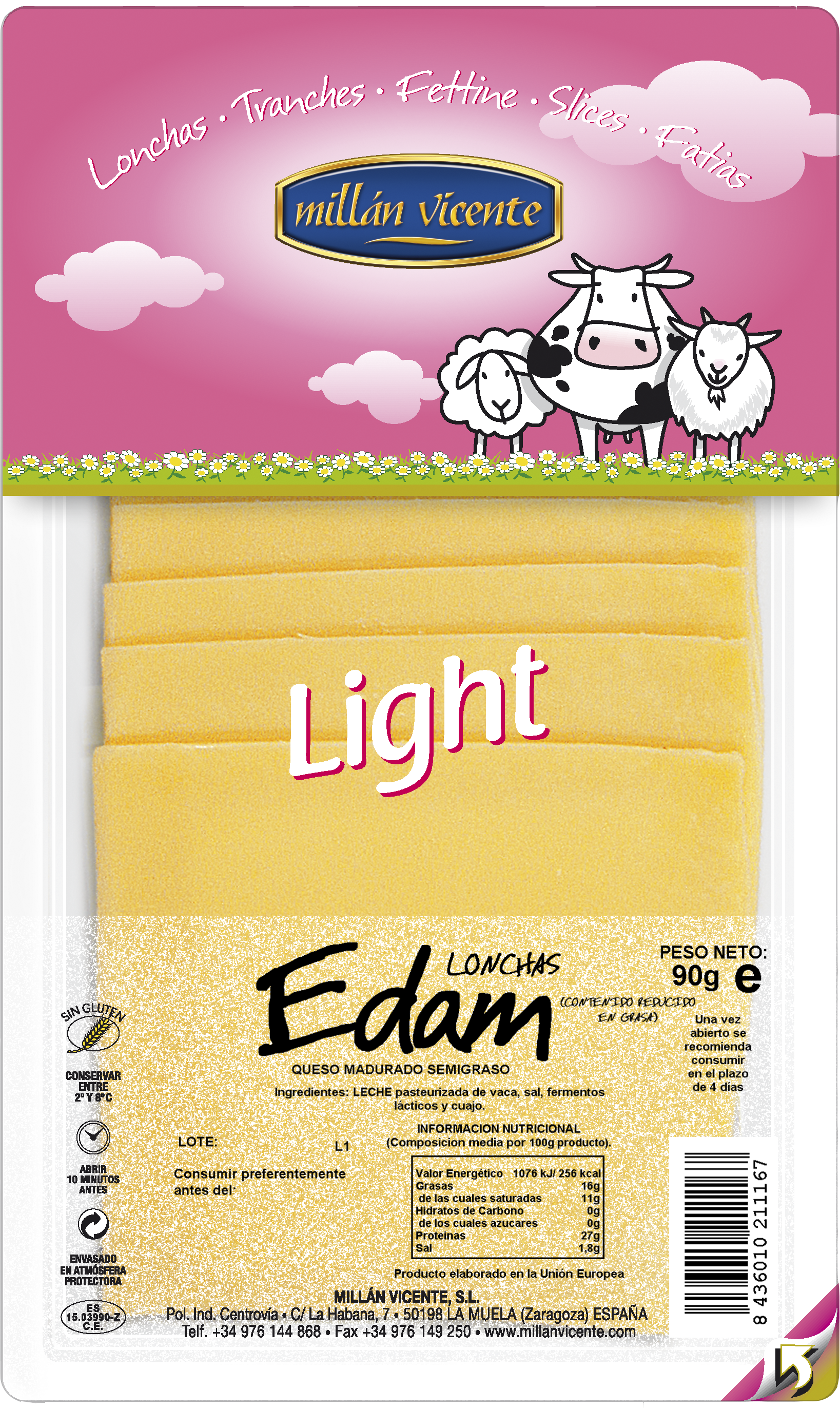 MILLAN VICENTE EDAM LIGHT 90G MV 16 UDS