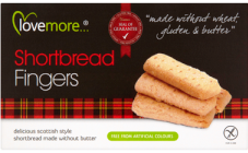 LOVEMORE SHORTBREAD FINGERS 125G