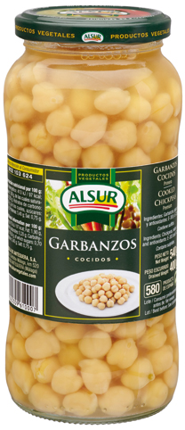 ALSUR CHICKPEAS JAR 540 GM