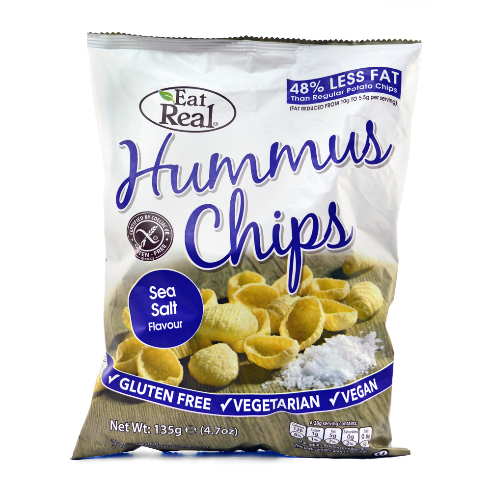 HUMMUS CHIPS SEA SALT 135 GM