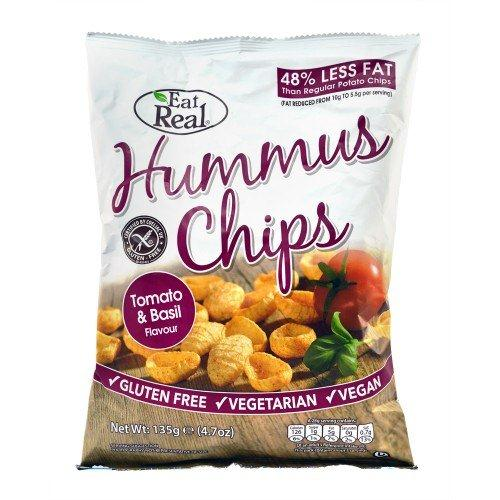 HUMMUS CHIPS TOMATO & BASIL FLAVOUR 135 GM