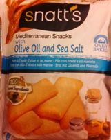 SNATTS MED SNACKS OLIVE OIL & SEA SALT 35 GM
