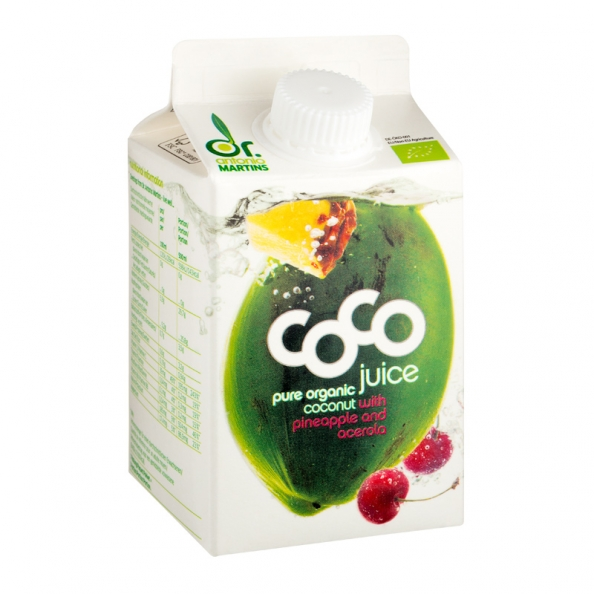 DR.Martins Organic Pure Coconut Water with pinaapple 500 ml