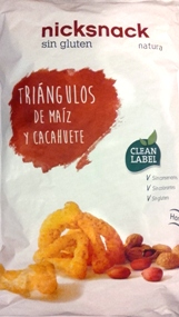 NICK SNACKS TRIANGULOS CACAHUHETE 80 GM